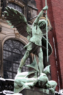 Statue at St. Michaelis Church, Hamburg