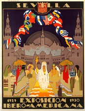 Poster for the Ibero-American Exposition of 1929.