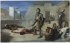 Cholula Massacre, by Felix Parra, 1877.