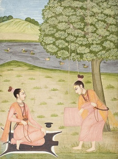 Two female Shaiva ascetics (18th century painting)