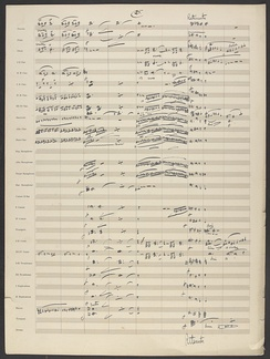 "John Philip Sousa's manuscript arrangement of Richard Wagner's ""The Flying Dutchman Overture (page 25 of 37)."