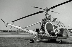 Hiller UH-12A in 1955 when used as a crop spraying demonstrator in England