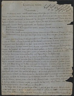 First page of the original manuscript to Le Comte de Moret