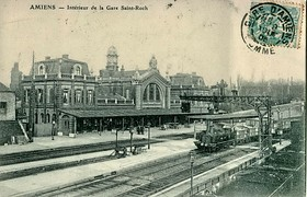 Inside Saint-Roch railway station (postcard postmarked in 1905).