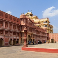 City Palace in Jaipur, was commissioned by the Maharana of Jaipur State.