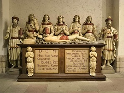 John's tomb in the crypt of the Notre-Dame Cathedral in Luxembourg City
