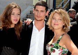 Main cast, from left to right: Adèle Exarchopoulos, Jérémie Laheurte and Léa Seydoux