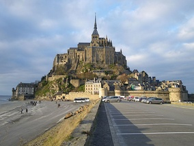 Bishop Aubert of Avranches (ca. 709) began construction of what became Mont Saint-Michel