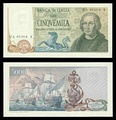 5000 lire – obverse and reverse – 1971 (1964)
