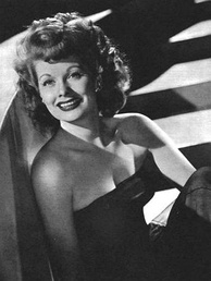 Actress Lucille Ball in 1945
