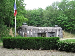 The main entrance of the Ouvrage Schoenenbourg from the Maginot Line
