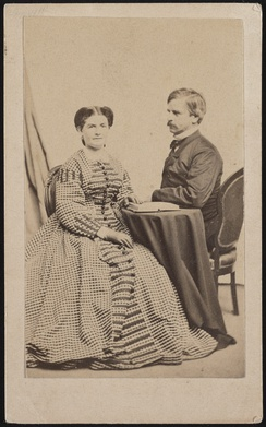 Major General Nathaniel Prentiss Banks of General Staff U.S. Volunteers Infantry Regiment in uniform, with his wife, Mary Theodosia Palmer Banks. From the Liljenquist Family Collection of Civil War Photographs, Prints and Photographs Division, Library of Congress