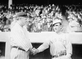 Managers John McGraw and Jake Stahl during the 1912 World Series