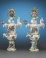 Autumn and Summer Porcelain Urns representing the Seasons, Model 1065, Circa 1880.