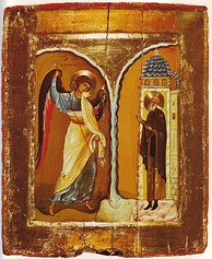A 12th-century icon of the Miracle at Chonae, from Saint Catherine's Monastery, Mount Sinai.