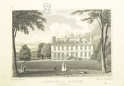 Engraving of Coleshill House, 1818