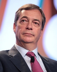 Nigel Farage, Leader of the Brexit Party and co-leader of the Europe of Freedom and Direct Democracy group in the European Parliament. Farage is one of the most prominent Eurosceptic figures in the UK.