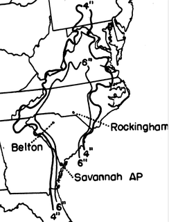 This graphic shows rainfall in the eastern United States from September 13–18, 1945