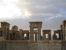 Ruins of the Tachara, part of the World Heritage site of Persepolis.