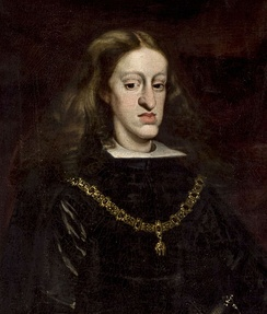 Portrait of Charles II of Spain, whose mother Mariana of Austria was also the niece of his father Philip IV of Spain.