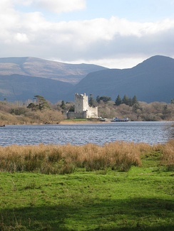 Ross Castle and Lough Leane, Killarney National Park.