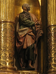 Statue of St. Paul (1606) by Gregorio Fernández