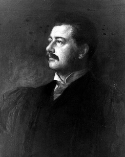 Eastman Johnson's portrait of Seth Low, c. 1890
