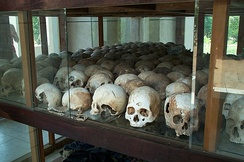 During the Khmer Rouge regime led by Pol Pot, one to three million people died due to the policies of his four-year premiership.