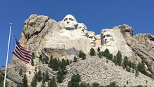 Theodore Roosevelt on Mount Rushmore (second from right)