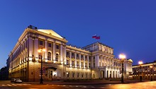 The Smolny Institute, seat of the governor