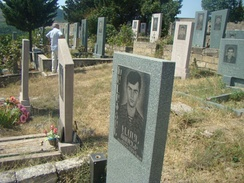 The graves of Armenian soldiers in Stepanakert