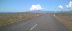 A very local storm above Snæfellsjökull (Iceland), showing clouds formed on the mountain by orographic lift