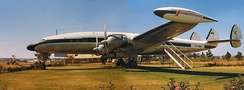 Super Constellation at Charles Prince Airport, Rhodesia (now Zimbabwe) in 1975, used as a flying club headquarters