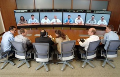A telepresence system in 2007