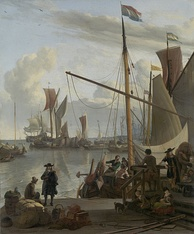 Painting by Ludolf Bakhuizen