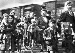 The expulsion of Germans from Czechoslovakia as the result of the end of World War II