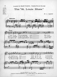 "Sheet music from ""Saint Louis Blues"" (1914)"