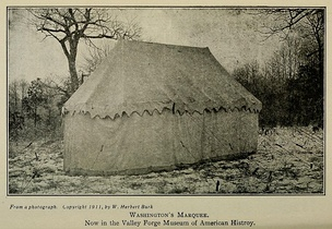 George Washington's tent. Collection of the Museum of the American Revolution, Philadelphia