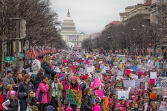Women's March in Washington on January 21, 2017, a day after the inauguration