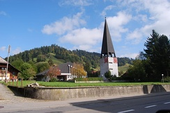 Village church of Zäziwil, built in 1964