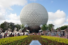 Spaceship Earth, the icon of Epcot.