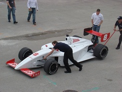 2008 Firestone Indy Lights car during testing at the Homestead-Miami Speedway.