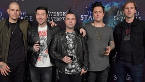 Avenged Sevenfold in 2016. From left to right: M. Shadows, Zacky Vengeance, Johnny Christ, Synyster Gates, and Brooks Wackerman