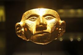 Golden Muisca mask, Museo del Oro