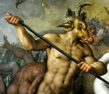 Detail of Satan from The Last Judgement (c. 1583) by Jacob de Backer