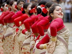Beautiful Assamese tradition dance in India