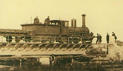A steam engine of the Warsaw–Terespol railway, 1866
