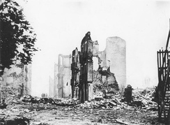 Ruins of Guernica after bombing by the Luftwaffe