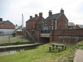 The Montgomery Canal passing through Llanymynech