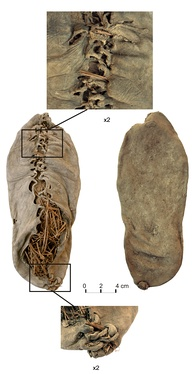 The oldest known leather shoe, about 5500 years old, found in Armenia